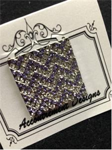 click here to view larger image of Monster Purple Chevron Magnet (accessory)