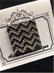 click here to view larger image of Monster Black Chevron Magnet (accessory)