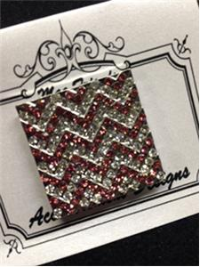 click here to view larger image of Monster Pink Chevron Magnet (accessory)