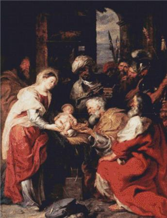 click here to view larger image of Adoration of the Magi - Rubens (chart)