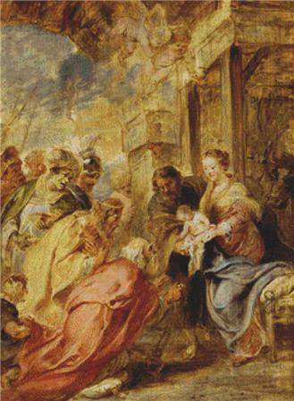 click here to view larger image of Adoration of the Magi - Rubens 2 (chart)