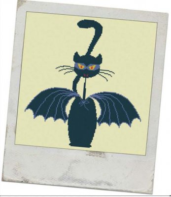 click here to view larger image of Bat Meow (2 patterns) (chart)