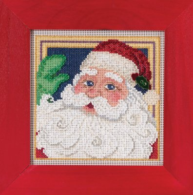 click here to view larger image of Jolly St Nick (2015) (counted cross stitch kit)