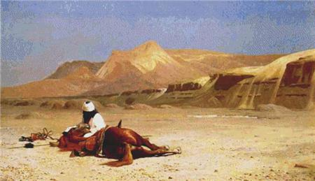 click here to view larger image of An Arab and His Horse In The Desert (chart)