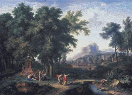 click here to view larger image of Arcadian Landscape With a Bust of Flora (chart)