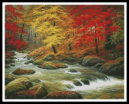 click here to view larger image of Autumn In Boulder Creek  (Charles White) (chart)