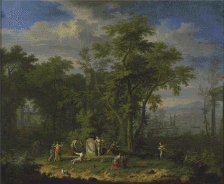 click here to view larger image of Arcadian Landscape With A Ceremonial Sacrifice (chart)