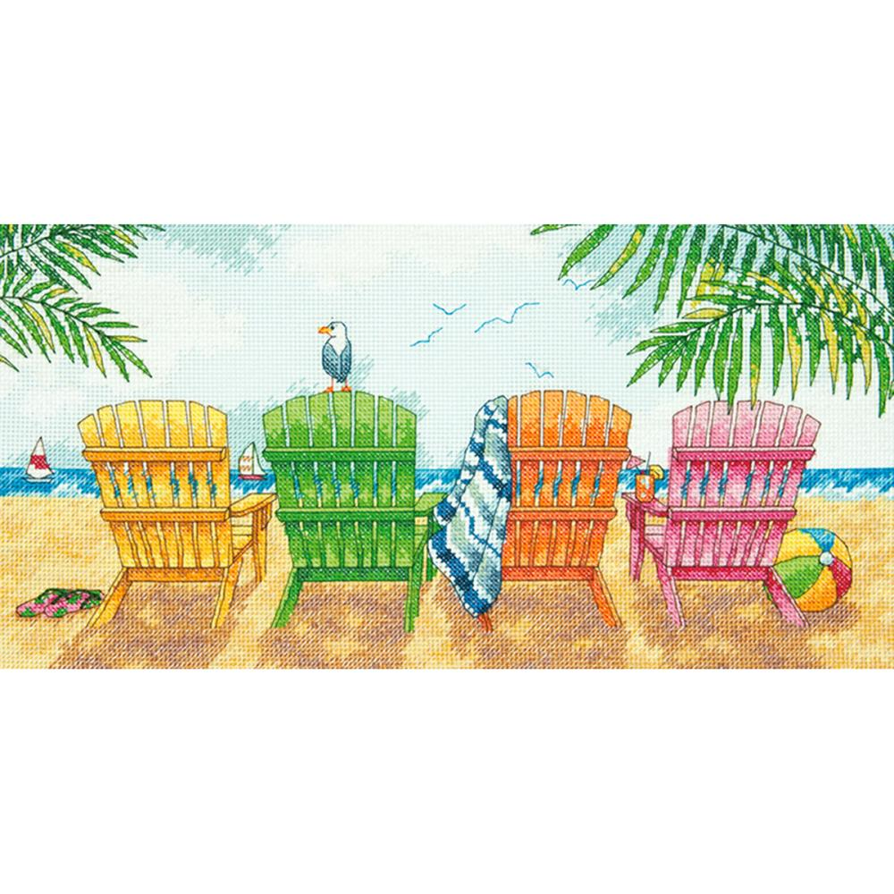 click here to view larger image of Beach Chairs (counted cross stitch kit)