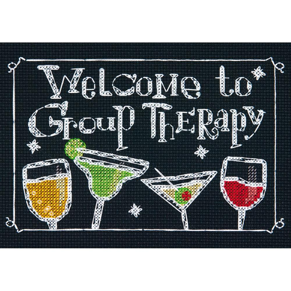 click here to view larger image of Group Therapy (counted cross stitch kit)