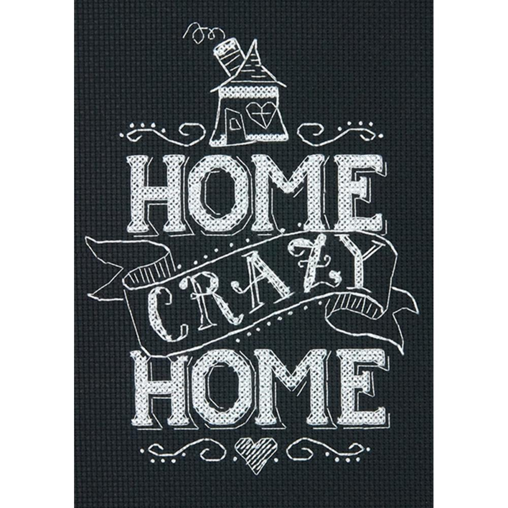click here to view larger image of Home Crazy Home (counted cross stitch kit)