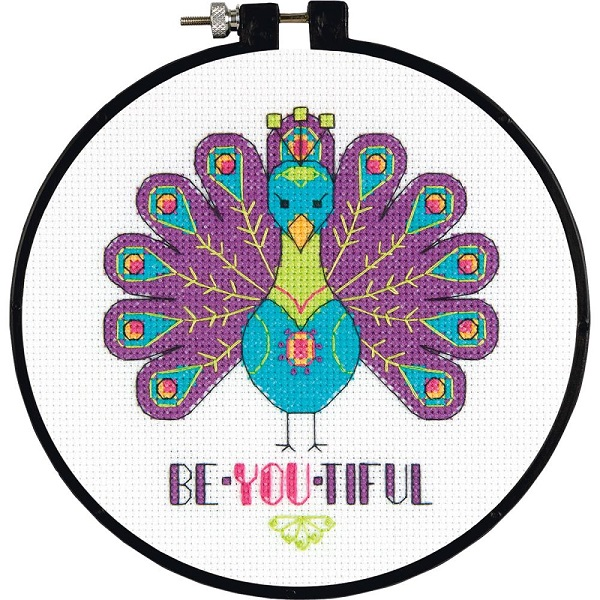 click here to view larger image of Learn-A-Craft You Are Beautiful (counted cross stitch kit)