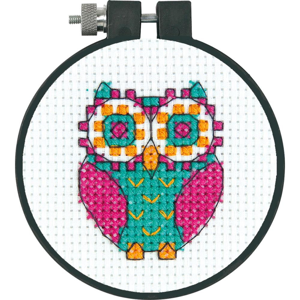 click here to view larger image of Flower Owl - Learn A Craft (counted cross stitch kit)