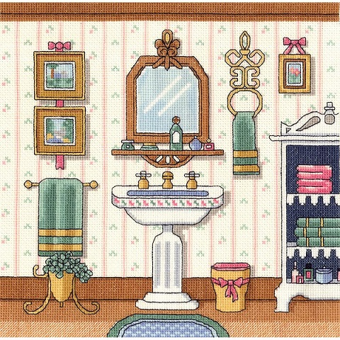 click here to view larger image of Victorian Sink (counted cross stitch kit)