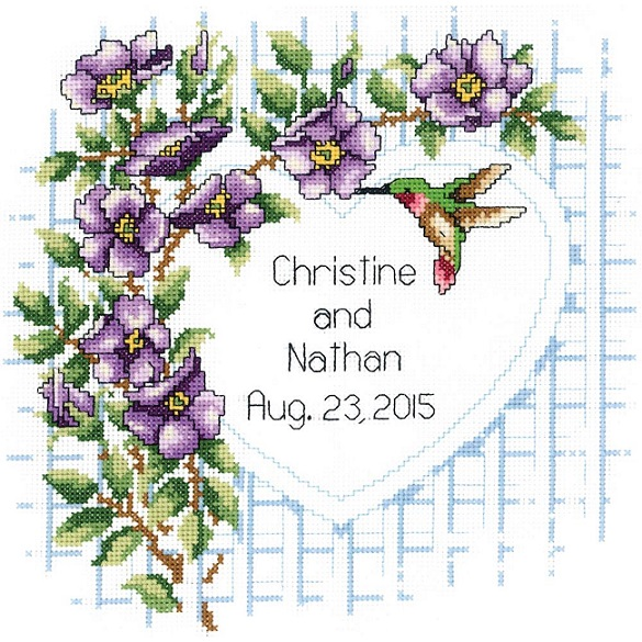 click here to view larger image of Garden Trellis (counted cross stitch kit)
