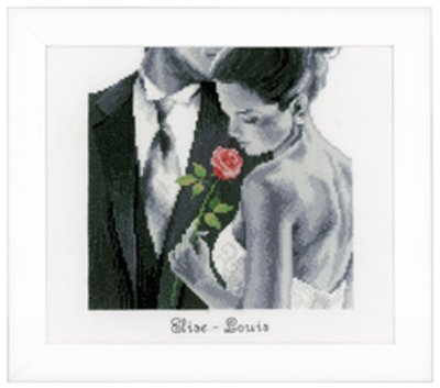 click here to view larger image of Rose of Love (counted cross stitch kit)