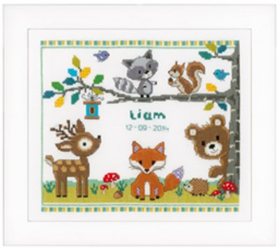 click here to view larger image of Forest Animals 1 (counted cross stitch kit)