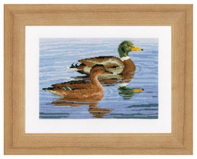 click here to view larger image of Family of Ducks (counted cross stitch kit)