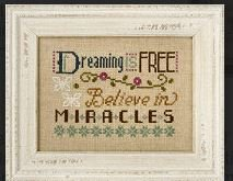 click here to view larger image of 3 Little Words - Dreaming is Free (chart with charms/buttons)
