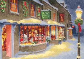 click here to view larger image of Christmas Toy Shop - Scene (Aida) (chart)