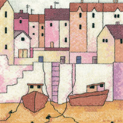 click here to view larger image of Harbour Wall - Painted Harbors  (27ct) (counted cross stitch kit)