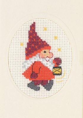 click here to view larger image of Elf and Light Card with Envelope (counted cross stitch kit)