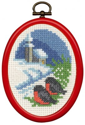 click here to view larger image of Church Ornament (counted cross stitch kit)