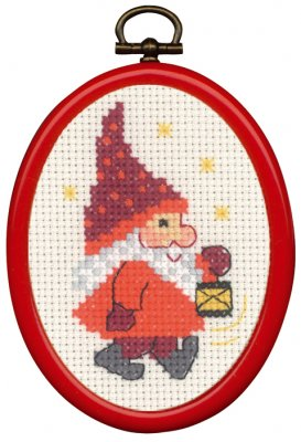 click here to view larger image of Elf and Light Ornament (counted cross stitch kit)