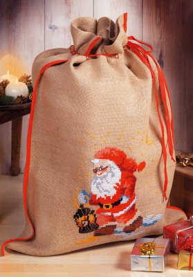 click here to view larger image of Santa Lantern - Bag (counted cross stitch kit)