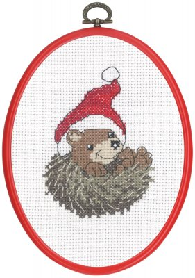 click here to view larger image of Curled Hedgehog (counted cross stitch kit)