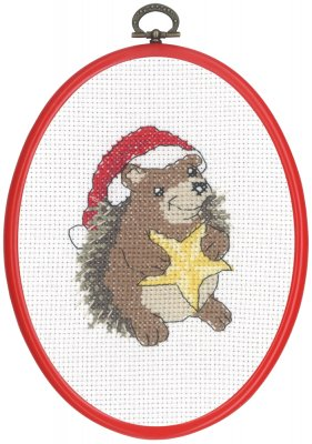 click here to view larger image of Hedgehog With Star (counted cross stitch kit)