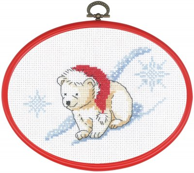 click here to view larger image of Ice / Bear On Front (counted cross stitch kit)