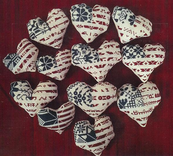 Patriotic Hearts - click here for more details about chart