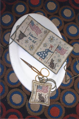 click here to view larger image of Lady Liberty Needle Book and Fob (chart)