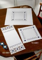 click here to view larger image of Hardanger With Blue Table Topper (lower right) (stamped cross stitch kit)