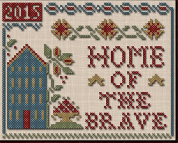 click here to view larger image of Home Of The Brave (chart with charms/buttons)