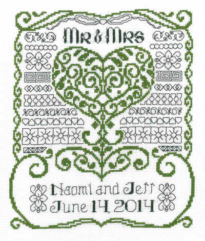 click here to view larger image of Mr and Mrs Wedding (chart)