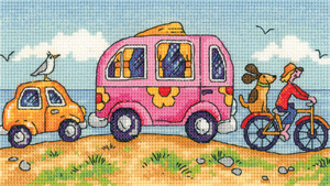 click here to view larger image of Are We There Yet? - By The Sea (27ct) (counted cross stitch kit)