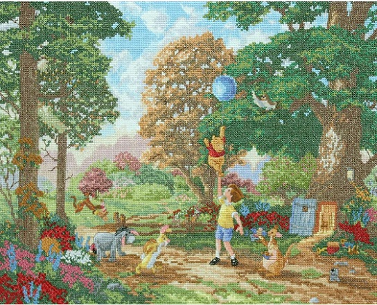 click here to view larger image of Winnie The Pooh - Disney Dreams Collection (counted cross stitch kit)