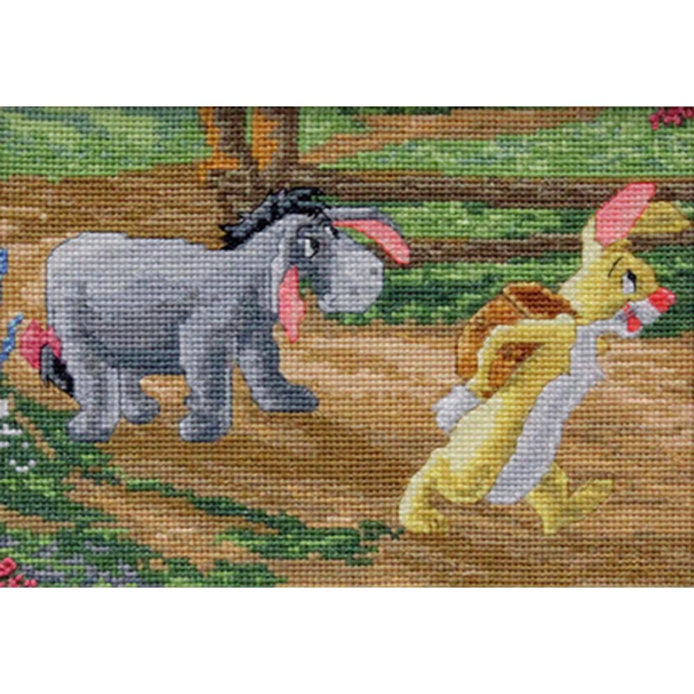 click here to view larger image of Eeyore and Rabbit - Disney Dreams Collection (counted cross stitch kit)