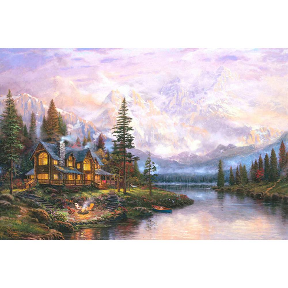 click here to view larger image of Cathedral Mountain Lodge (counted cross stitch kit)