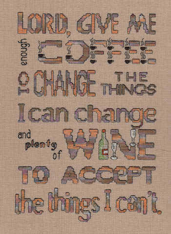 click here to view larger image of Enough Coffee - Plenty of Wine (chart)