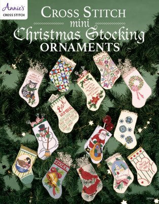 click here to view larger image of Cross Stitch Mini Christmas Stocking Ornaments (book)