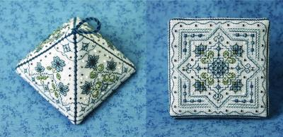click here to view larger image of Pretty Pyramid 1 - Tiny Bluettes (counted cross stitch kit)