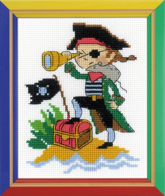click here to view larger image of Brave Pirate (counted cross stitch kit)