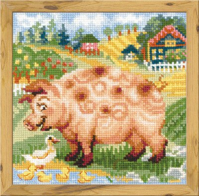 click here to view larger image of Piglet - The Farm (counted cross stitch kit)