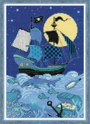 click here to view larger image of Pirate Ship (counted cross stitch kit)