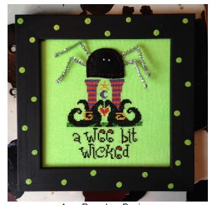 Wee Bit Wicked (Limited Edition Kit - Pre-order) - click here for more details about counted cross stitch kit