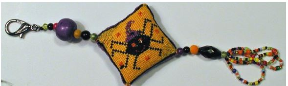 Spider Spell Fob (Limited Edition - Pre-order) - click here for more details about counted cross stitch kit