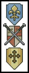 click here to view larger image of Swords and Shields Bookmark (chart)