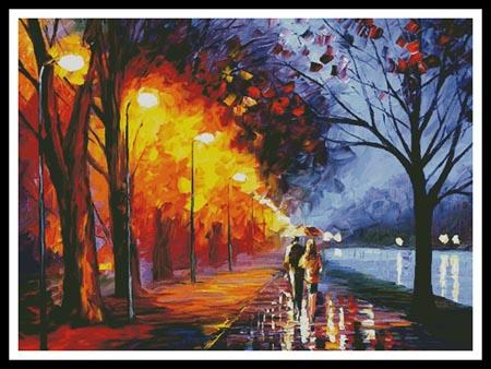 click here to view larger image of Alley By The Lake - Large  (Leonid Afremov) (chart)